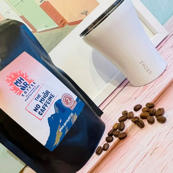 No Mhor Caffeine - Decaffeinated Artisan Coffee available in whole beans, coarse grind or fine grind